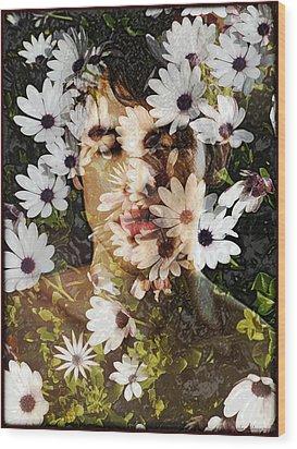 Flower Boy Wood Print
