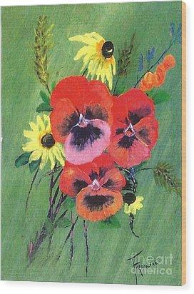 Flower Bunch Wood Print by Francine Heykoop