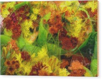 Flower Carnival Wood Print by Ayse and Deniz