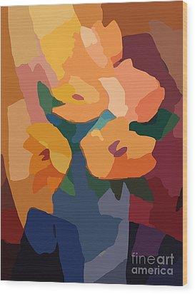 Flower Deco I Wood Print by Lutz Baar