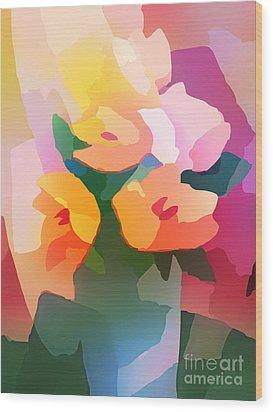 Flower Deco II Wood Print by Lutz Baar