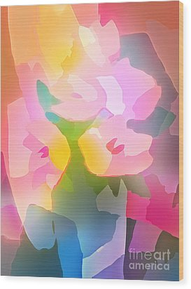 Flower Deco IIi Wood Print by Lutz Baar