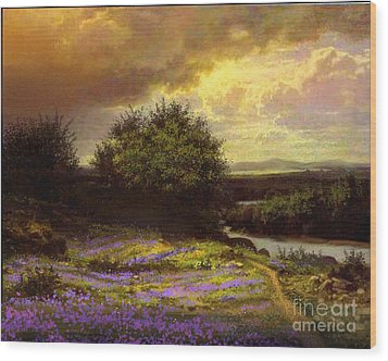 Flower Dell Wood Print by Robert Foster