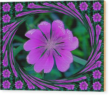 Flower Dream Wood Print