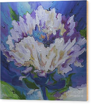 Flower For A Friend Wood Print by Alison Caltrider