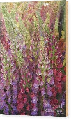 Flower Garden Wood Print by Linda Woods