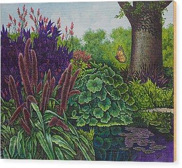 Flower Garden V Wood Print by Michael Frank