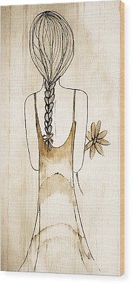 Flower Girl 3 Wood Print by Anne Costello