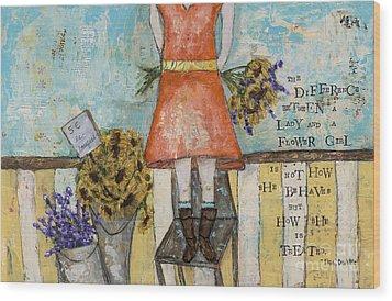 Flower Girl Wood Print