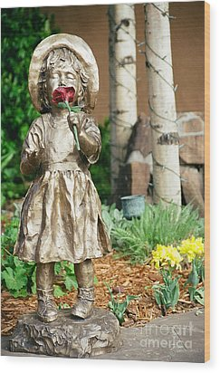 Flower Girl Wood Print