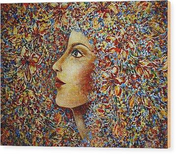 Flower Goddess. Wood Print