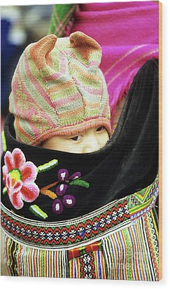 Flower Hmong Baby 02 Wood Print by Rick Piper Photography
