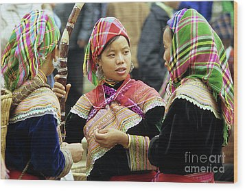 Flower Hmong Women Wood Print by Rick Piper Photography