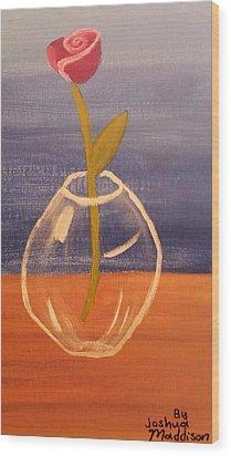 Flower In Vase Wood Print