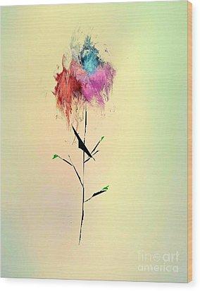 Flower Wood Print by John Krakora