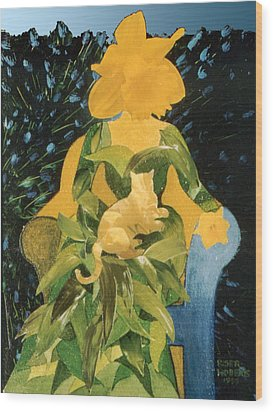 Flower Lovers Wood Print by Eve Riser Roberts