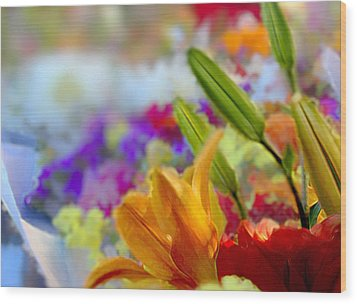 Flower Market 1 Wood Print