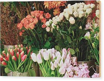 Flower Market Wood Print by Ann Murphy