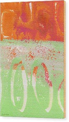 Flower Market Wood Print by Linda Woods