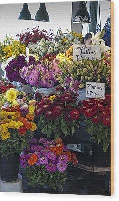 Flower Market Wood Print by Wayne Meyer