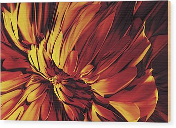 Wood Print featuring the digital art Flower by Matt Lindley