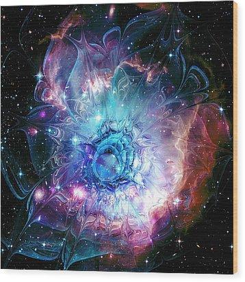 Flower Nebula Wood Print by Anastasiya Malakhova