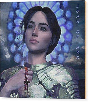 Joan Of Arc Flower Of France Wood Print