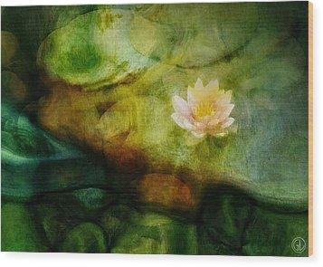 Flower Of Hope Wood Print by Gun Legler