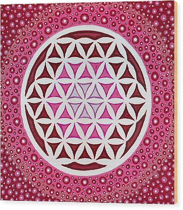 Flower Of Life Wood Print by Christopher Sheehan