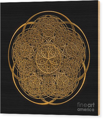 Flower Of Life Wood Print by Olga Hamilton