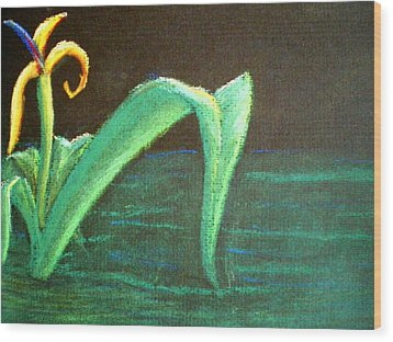 Flower Of The Water Wood Print