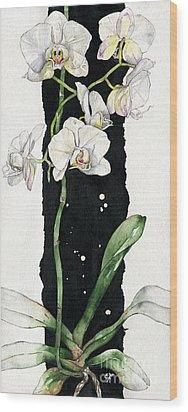 Wood Print featuring the painting Flower Orchid 05 Elena Yakubovich by Elena Yakubovich