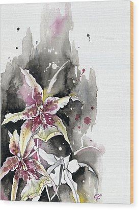 Flower Orchid 12 Elena Yakubovich Wood Print by Elena Yakubovich
