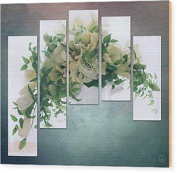 Flower Panels Wood Print by Gun Legler
