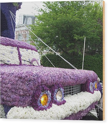 Flower Parade. 03 Blumencorso Holland 2011 Wood Print by Ausra Huntington nee Paulauskaite