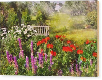 Flower - Poppy - Piece Of Heaven Wood Print by Mike Savad