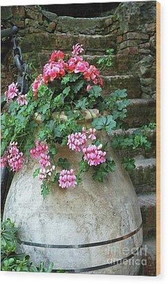 Wood Print featuring the photograph Flower Pot 8 by Allen Beatty