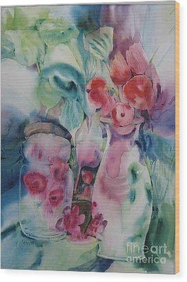Flower Pot Wood Print by Donna Acheson-Juillet