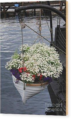 Flower Pot Wood Print by Sophie Vigneault