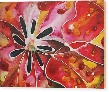 Flower Power - Abstract Floral By Sharon Cummings Wood Print by Sharon Cummings