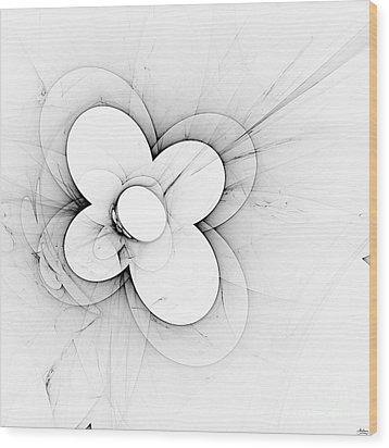 Flower Power Wood Print by Arlene Sundby