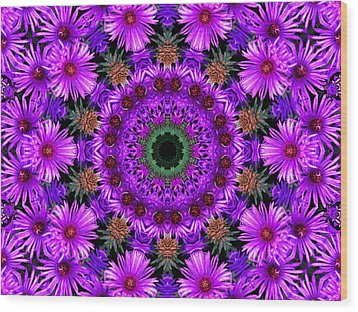Flower Power Wood Print by Kristie  Bonnewell