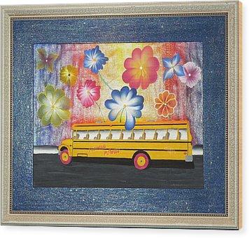 Flower Power Wood Print by Ron Davidson