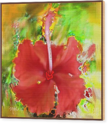 Flower Red Wood Print by Nedunseralathan R