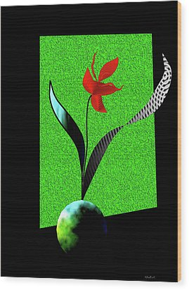 Wood Print featuring the digital art Flower Show by Asok Mukhopadhyay