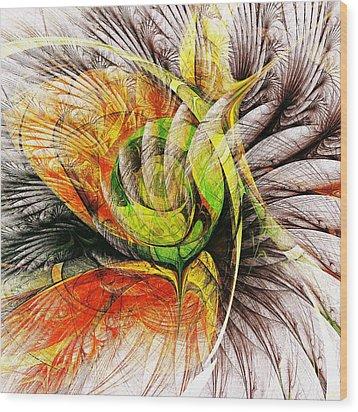 Flower Spirit Wood Print by Anastasiya Malakhova