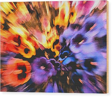 Flower Trip Wood Print by Carl Hunter