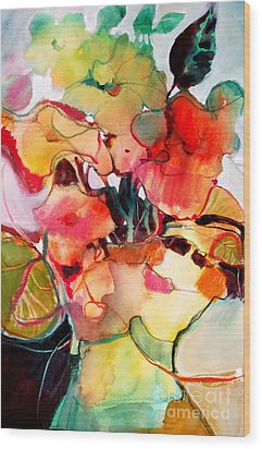 Wood Print featuring the painting Flower Vase No. 2 by Michelle Abrams
