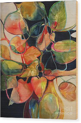Wood Print featuring the painting Flower Vase No. 5 by Michelle Abrams