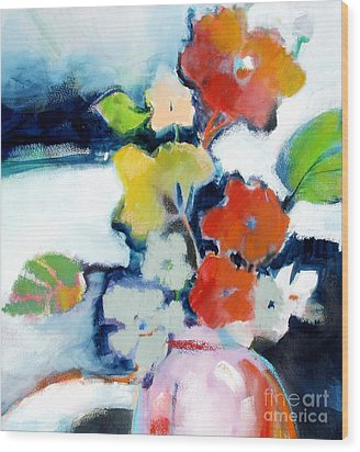 Wood Print featuring the painting Flower Vase No.1 by Michelle Abrams